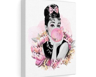 Pink Audrey - Canvas Gallery Wraps