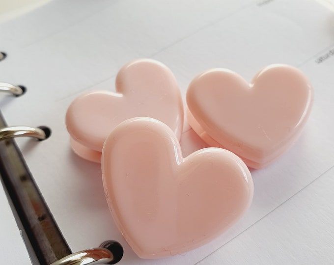 Cute Paperclip Heart in light pink