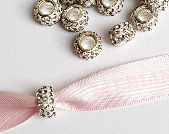 Beads with Rhinestones