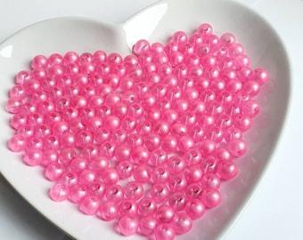 Pink Glassbeads 8mm