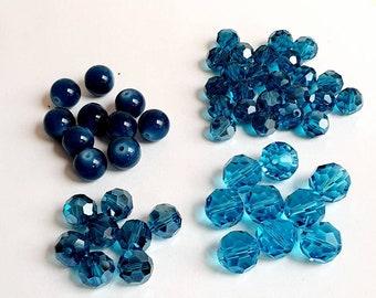 Exclusive Set of bluetone Glassbeads