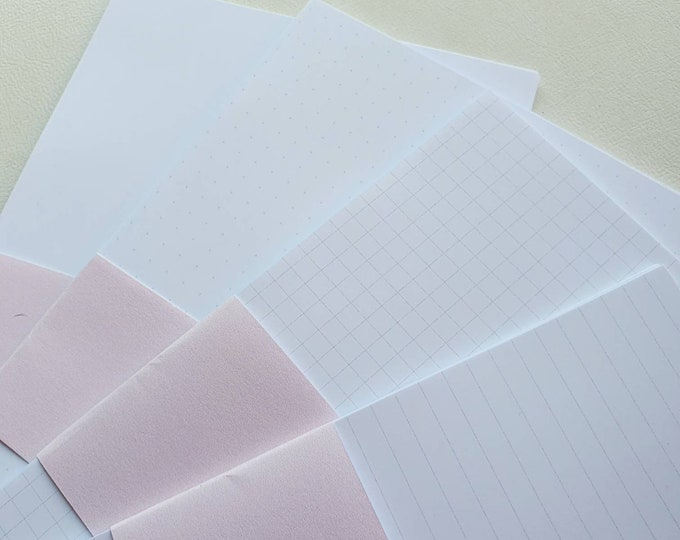 B6 Inserts, blank, dotted, lined or squared grey