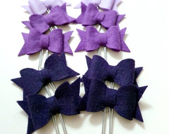 Sweet Felt Paperclip Bow in different colors handmade for your Planner and Books