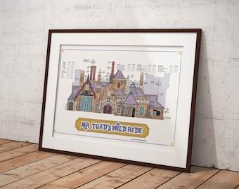 Disneyland - Fantasyland - Mr. Toad's Wild Ride - Blueprint