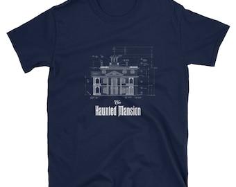 Disneyland's Haunted Mansion Blueprint T-shirt