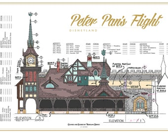 Disneyland - Peter Pan's Flight - Blueprint (Digital)