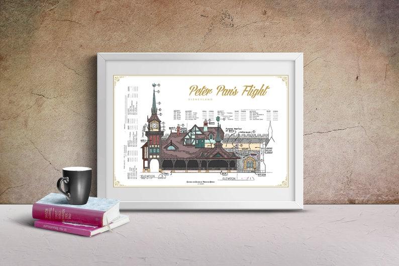 Disneyland  Peter Pan's Flight  Colorized Blueprint image 0