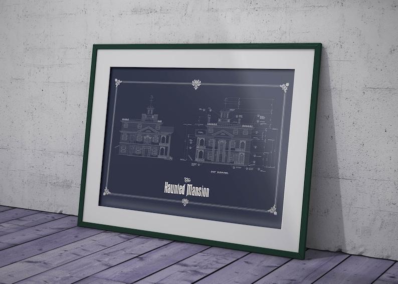 Disneyland  Haunted Mansion  Colored Blueprint image 0