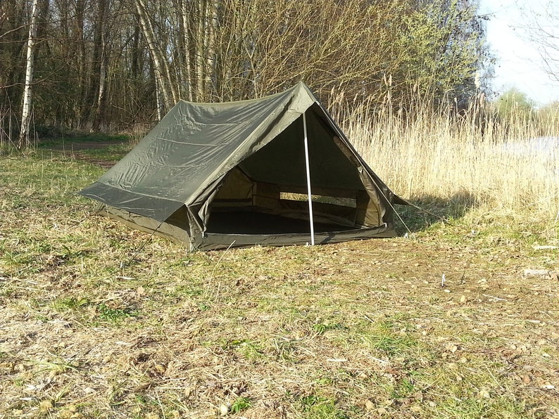 French Army F1 lightweight nylon commando tent in olive drab  *NEW OLD  STOCK*