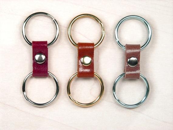 Italian leather womens keyring brass key ring zinc or  773a8b24c1