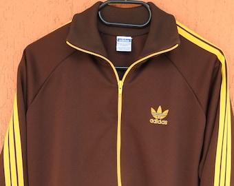 b45439966ff 80s True Vintage Adidas Track Jacket Trefoil Football Casuals Ultras  Hooligans Sz S Yugoslavia