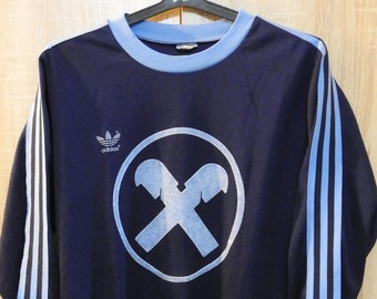 1bc6c8db620 Vintage ADIDAS Soccer Football Shirt No.12 Jersey Sz S Trefoil West Germany