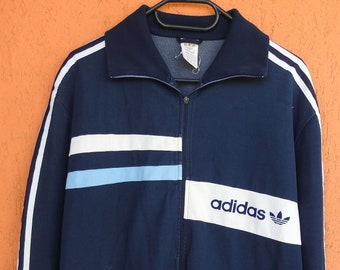 97ad37012f421d True Vintage Adidas Track Jacket 1970 1980s Size M