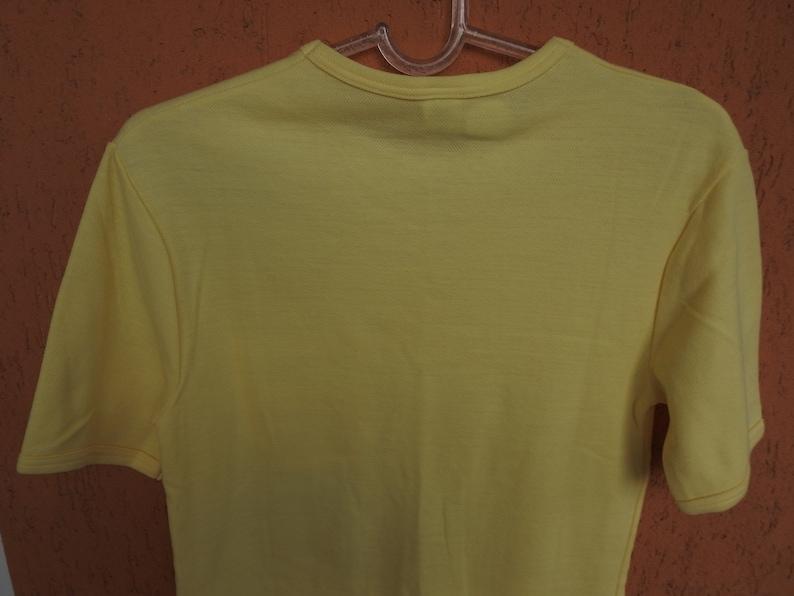 Vintage HELLY HANSEN Yellow T-shirt Size SM Retro Made in Austria NEW