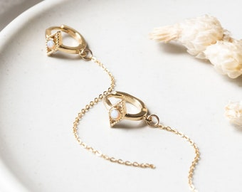 Tiny Evil Eye Opal Hoops Huggies, 14k Gold Plated Layer Dainty Delicate Stack Earrings, Boho Layering Earrings, Best Friend Girlfriend Gift