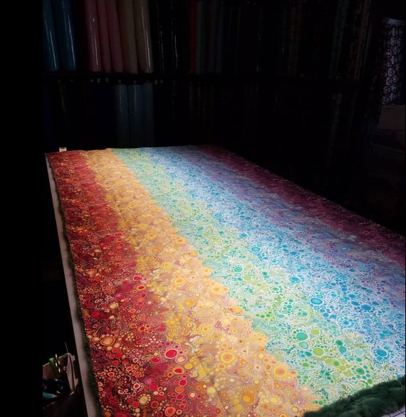 Rainbow Bubbles, Weighted Blanket, Cotton, Up to Twin Size, 3 to 20 Pounds, 3 to 20 lb, Adult Weighted Blanket, SPD, Autism