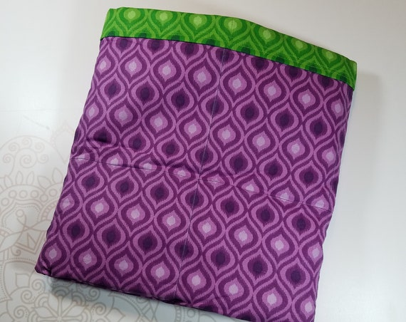Ready To Ship, Purple, Green Moroccan, 9 Pound, WEIGHTED BLANKET, Ready To Ship, 9 pounds, 38x42 for Autism, Sensory