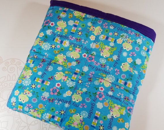 Frog, 6 Pound, WEIGHTED BLANKET, Ready To Ship, 6 pounds. 38x42 for Autism, SPD, Anxiety, ptsd blanket,