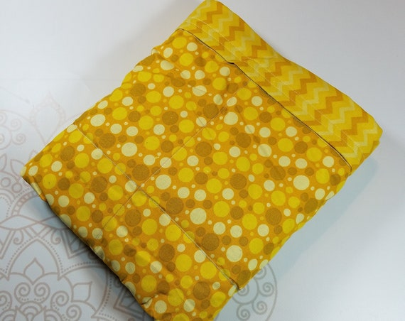 Ready To Ship, 5 Pounds, Yellow Dots,Chevron, 5 Pound, WEIGHTED BLANKET, 5 pounds, 28x32 for Autism, Sensory, ADHD, Calming, Anxiety,