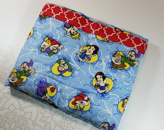 Ready To Ship, Princess, 7 Pound, WEIGHTED BLANKET, Ready To Ship, 7 pounds, 38x42, for Autism, Sensory, ADHD, Calming