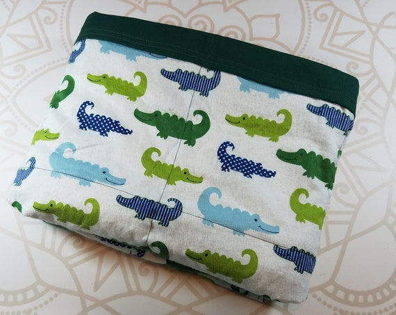 Ready To Ship, 40X42, Alligator, 6 Pound, WEIGHTED BLANKET, Ready To Ship, 6 pounds, 40x42, for Autism, Sensory, ADHD, Calming