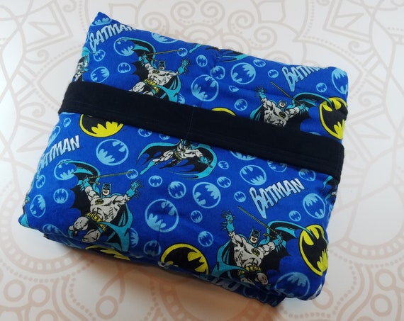 Ready To Ship, 40X42, Superhero, 8 Pound, WEIGHTED BLANKET, Ready To Ship, 8 pounds, 40x42, for Autism, Sensory, ADHD, Calming