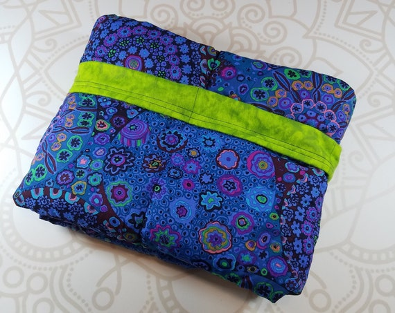 Ready To Ship, 40X42, Blue Medalion, 8 Pound, WEIGHTED BLANKET, Ready To Ship, 8 pounds, 40x42, for Autism, Sensory, ADHD, Calming