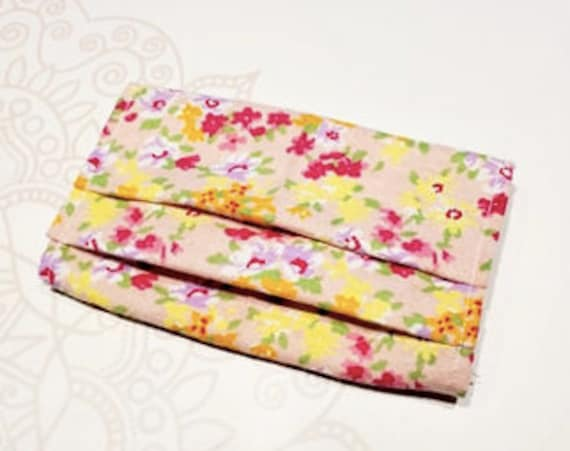 READY to SHIP, Face Mask COVER, For Ear Looped Masks, Floral, Washable Mask Cover