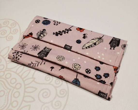 Face Mask COVER, For Ear Looped Masks, Woodland Print, For Adult Size Masks, Washable Mask Cover
