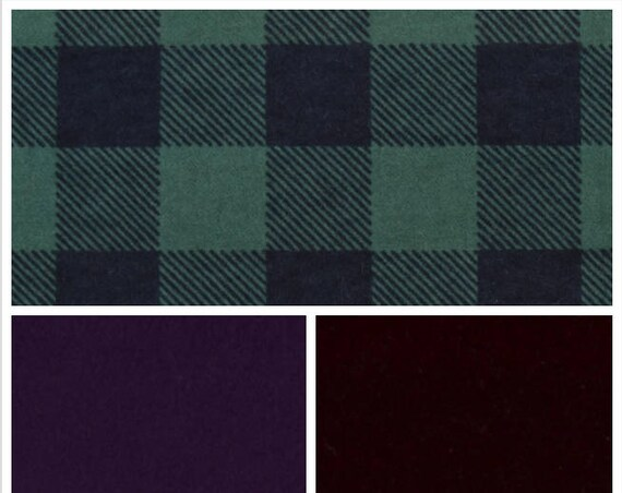 Hunter and Navy Plaid Weighted Blanket, Cotton Flannel, Up to Twin Size, 3 to 20 Pounds,Adult Weighted Blanket, SPD, Autism, Calming Blanket