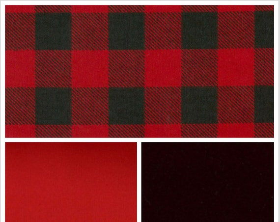 Black and Red Plaid Weighted Blanket, Valentine Gift, Flannel, Up to Twin Size, 3 to 20 Pounds, Adult Weighted Blanket,  Autism, Calming