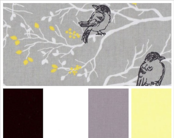 Gray Black Birds on Branches, Weighted Blanket, Cotton, Up to Twin Size, 3 to 20 Pounds, Adult Weighted Blanket, SPD, Autism,Calming Blanket