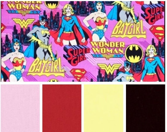 Girl Super Hero, Weighted Blanket, Cotton, Up to Twin Size, 3 to 20 Pounds, 3 to 20 lb, Adult Weighted Blanket, SPD, Autism, Calming Blanket
