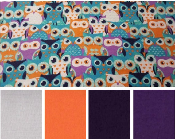 Owl, Weighted Blanket, Cotton Flannel, Up to Twin Size, 3 to 20 Pounds, Adult Weighted Blanket, SPD, Autism, Calming Blanket