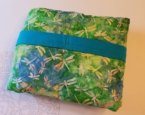 Dragonfly Batik, Weighted Blanket, Cotton, Up to Twin Size, 3 to 20 Pounds, 3 to 20 lb, Adult Weighted Blanket, SPD, Autism, Calming Blanket