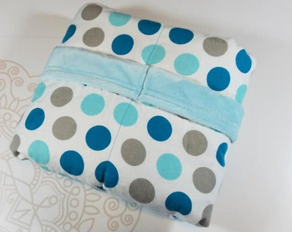 Ready To Ship, 4 Pound, WEIGHTED BLANKET, 28x32 for Autism, Sensory, ADHD, Calming, Anxiety,