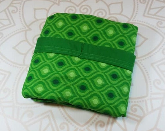 Green Moroccan, 3 pound, WEIGHTED BLANKET, 3 pounds, 28x32, for Autism, Sensory, ADHD, Calming, Anxiety,