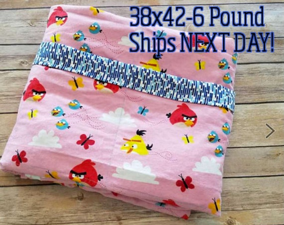 Bird, 6 Pound, WEIGHTED BLANKET, Ready To Ship, 6 pounds, 38x42 for Autism, Sensory, ADHD