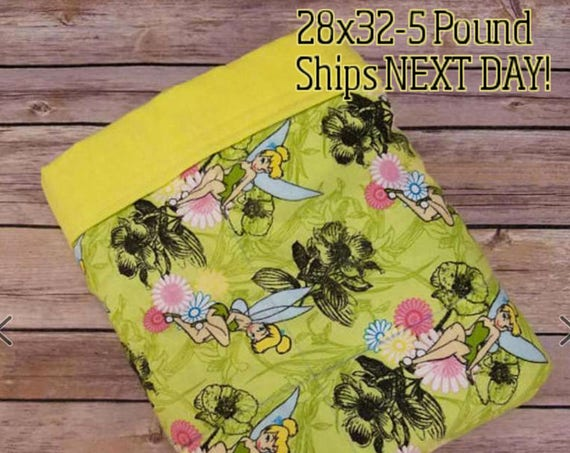 Fairy, 5 Pound, WEIGHTED BLANKET, Ready To Ship, 5 pounds, 28x32 for Autism, Sensory, ADHD, Calming, Anxiety,