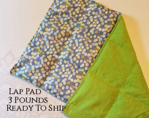 READY TO SHIP, Washable, Weighted Dinosaur Dino Lap Pad/Small Blanket/Travel Weighted Blanket 3 pounds.  14.5x22 Ready to Ship