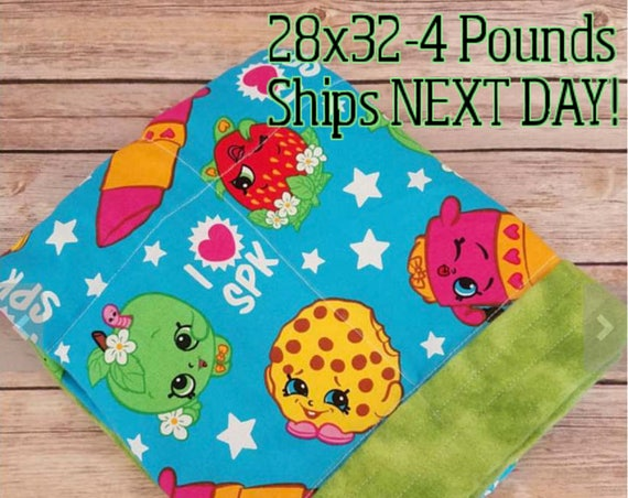 Cartoon, 4 pound, WEIGHTED BLANKET, 4 pounds, 28x32, for Autism, Sensory, ADHD, Calming, Anxiety,