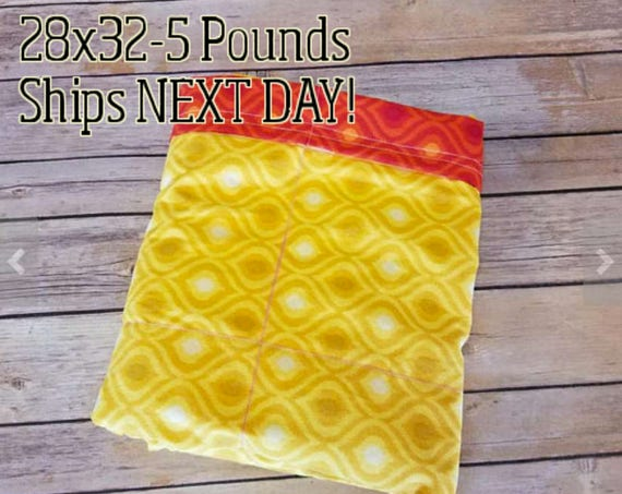 Red Yellow Moroccan, 5 Pound, WEIGHTED BLANKET, 5 pounds, 28x32 for Autism, Sensory, ADHD, Calming, Anxiety,