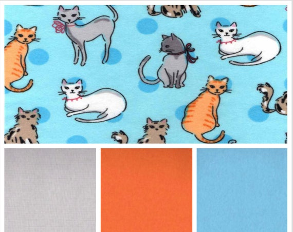 Kitty Friends, Weighted Blanket, Cotton Flannel, Up to Twin Size, 3 to 20 Pounds, Adult Weighted Blanket, SPD, Autism, Calming Blanket