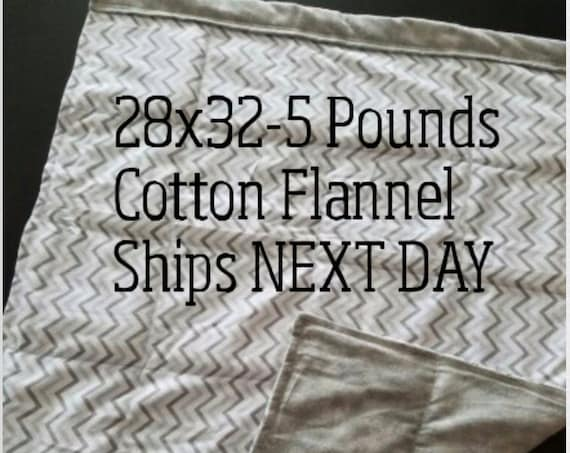 Chevron, Weighted Blanket, 5 Pound, 28x32, READY TO SHIP.  One Business Day Turn Around.  Gray Chevron, Gray Tie Dye Backing