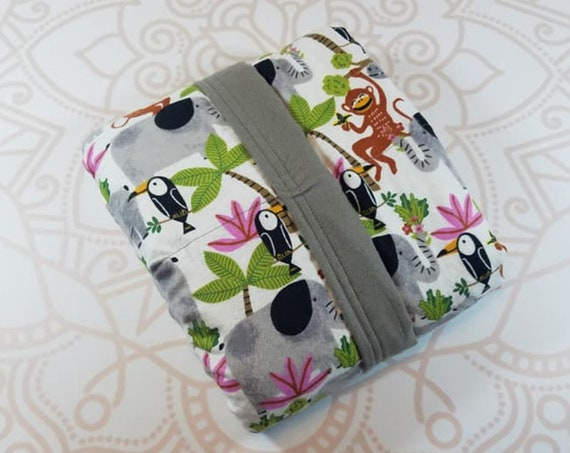 Ready To Ship, 5 Pound, WEIGHTED BLANKET, Jungle Animals, Ready To Ship, 5 pounds, 28x32 for Autism, Sensory, ADHD, Calming, Anxiety,