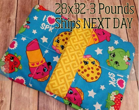 Cartoon, 3 Pound, WEIGHTED BLANKET, 3 pounds, 28x32, for Autism, Sensory, ADHD, Calming, Anxiety,