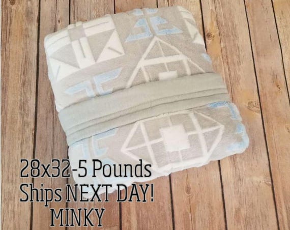 Minky, 5 Pound, WEIGHTED BLANKET, Ready To Ship, 5 pounds, 28x32, for Autism, Sensory, ADHD, Calming, Anxiety,
