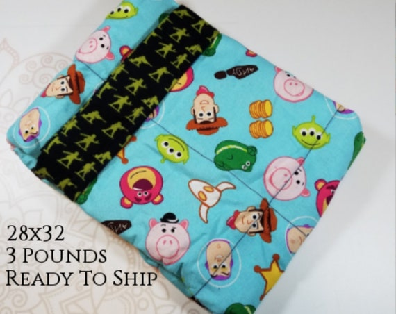 Ready To Ship, 3 Pound,  WEIGHTED BLANKET, Movie,  3 pounds, 28x32 for Autism, Sensory, ADHD, Calming, Alzheimer's, Anxiety