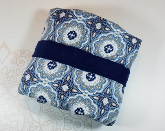 Ready To Ship, 5 Pound, Minky, WEIGHTED BLANKET, Medallion, Ready To Ship, 5 pounds, 28x32 for Autism, Sensory, ADHD, Calming, Anxiety,