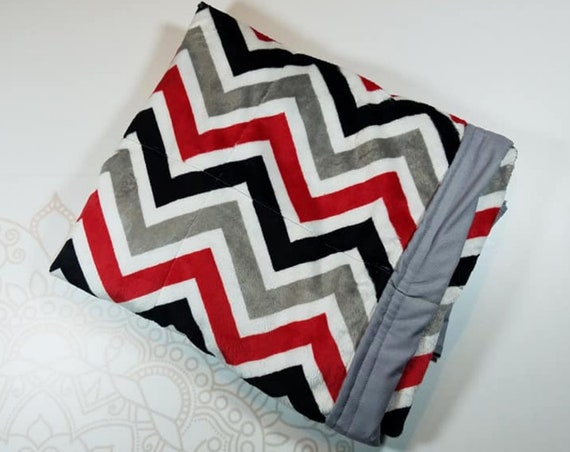 Minky Weighted Blanket, 3 pound, Ready To Ship, 28x32, for Autism, Sensory, ADHD, Calming, Anxiety,